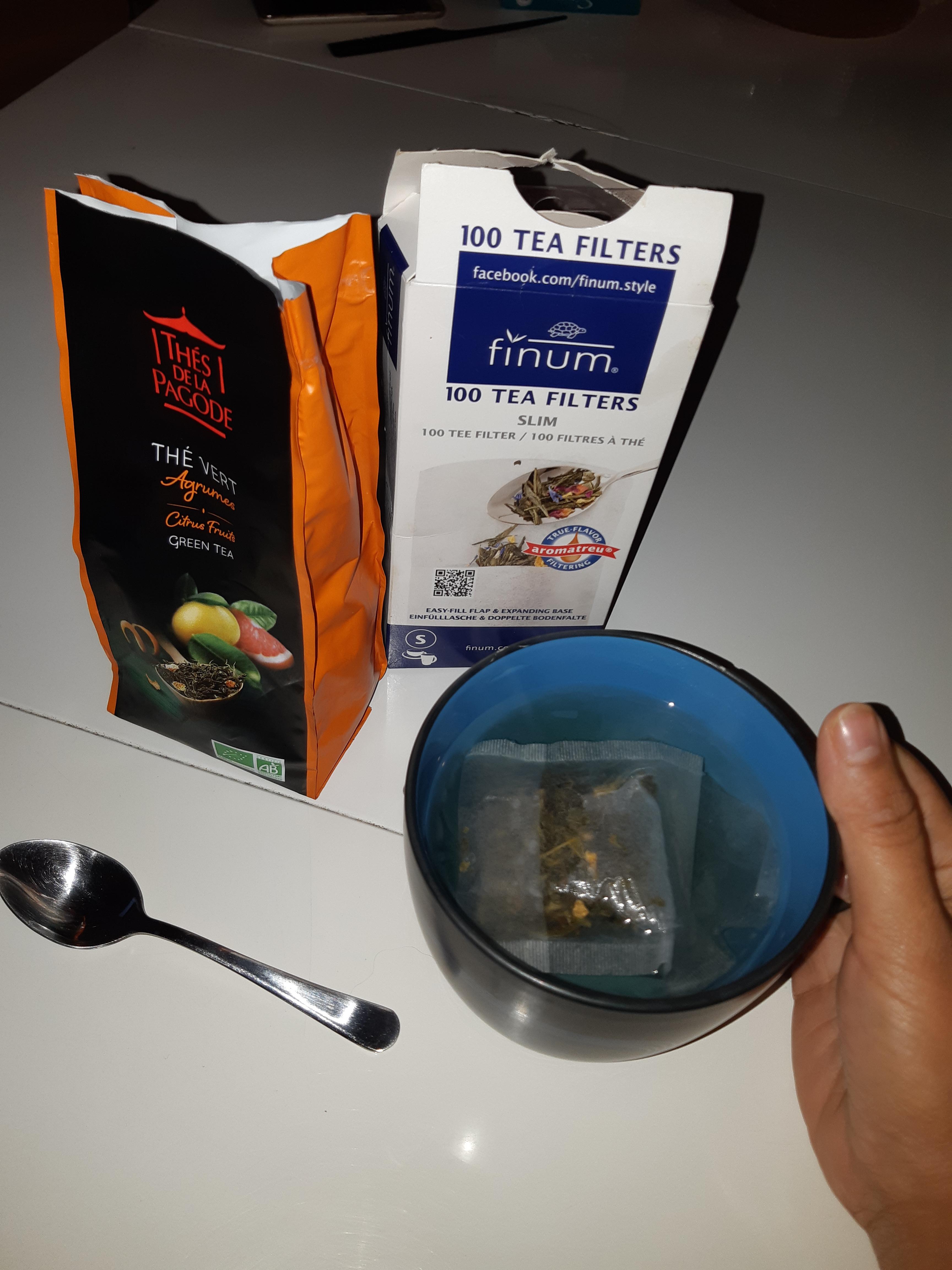 J'ai testé pour vous thé vert bio aux agrumes «Thé de la pagode»