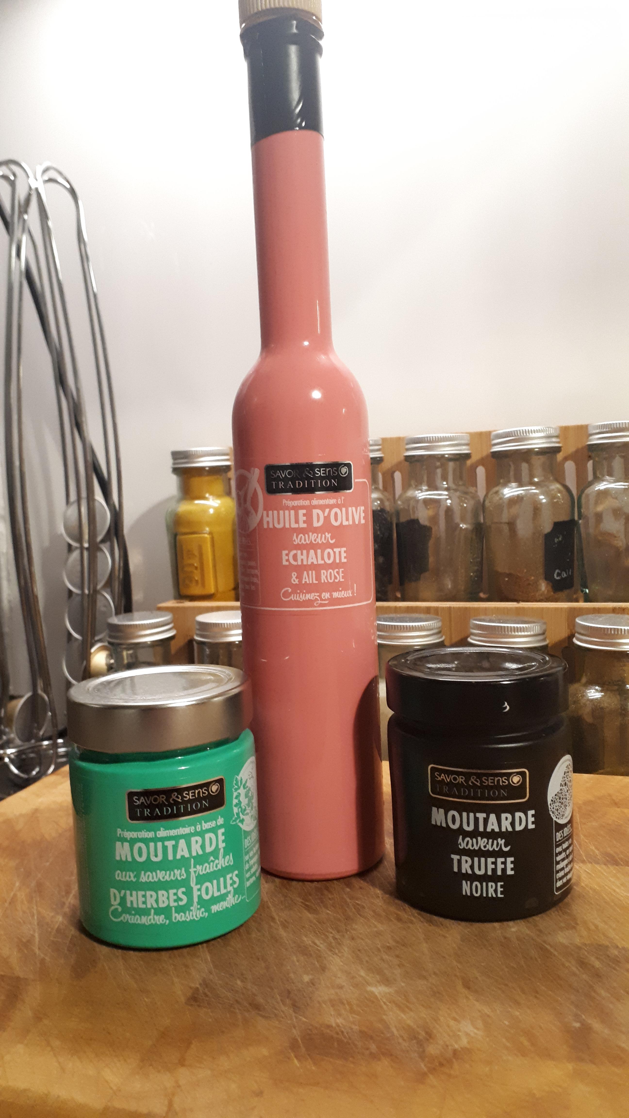 Huile d'olive et moutarde  Savor & Sens