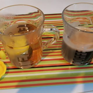 "Mes mugs en verre 33,5 cl ""tea & coffee"""