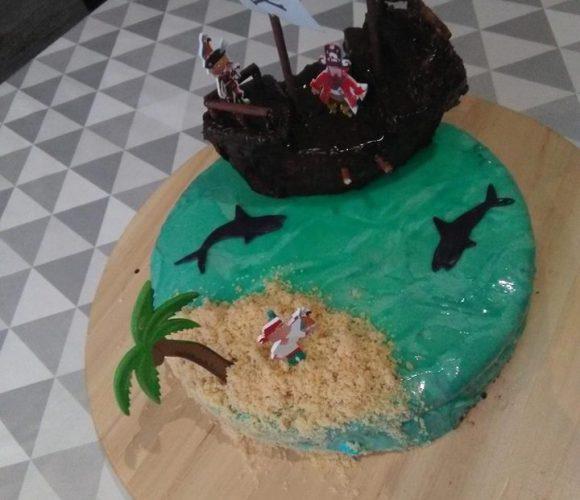 Maman , je veux un gâteau pirate !!