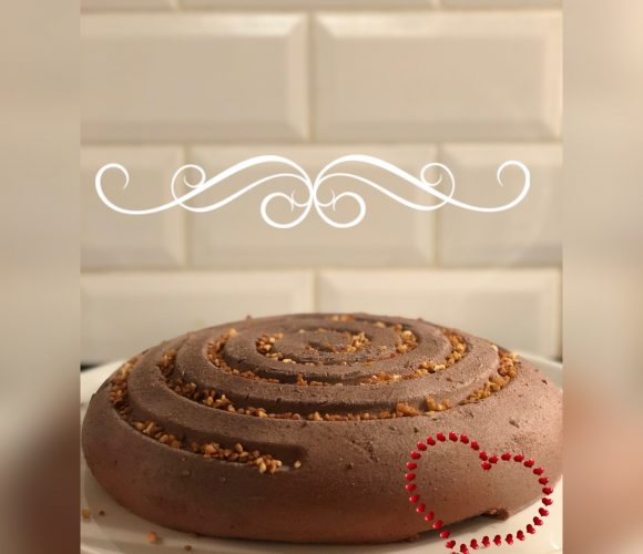 Entremet chocolat insert passion, finition velours chocolat !