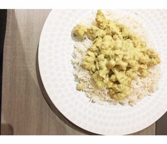 Mon curry de pois chiches et poulet !