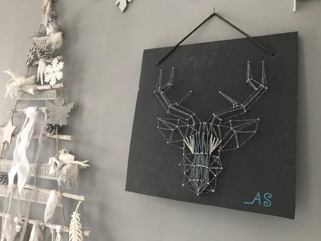 Mon renne en string Art !