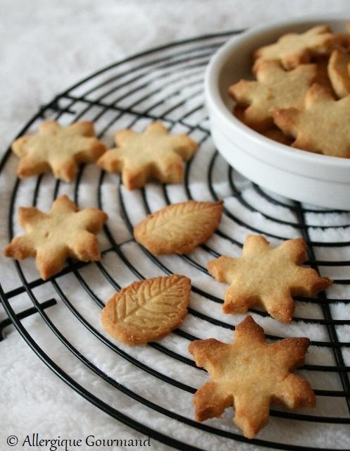 Sablés au gingembre et clémentine { sans gluten, sans lait, sans oeufs }