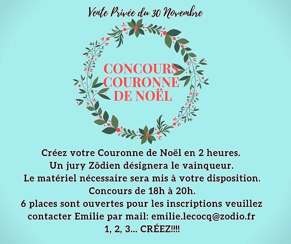 Vente Privée du 30 Novembre: Concours Couronne de Noël