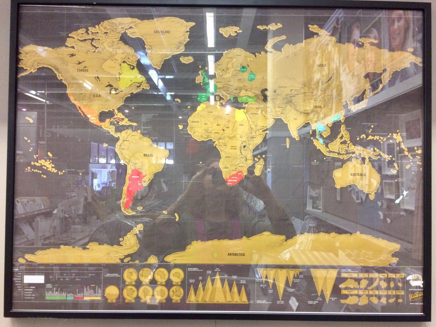 Ma Carte du Monde à Gratter