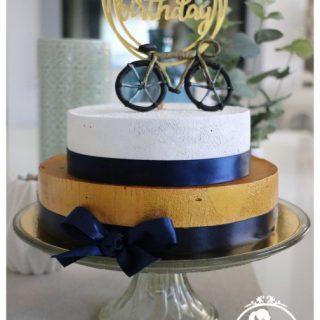 Bavarois framboise vélo