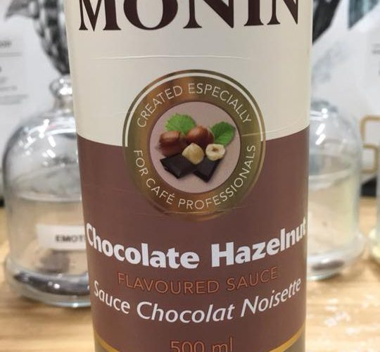 J'ai testé pour vous la sauce Monin Chocolat noisette