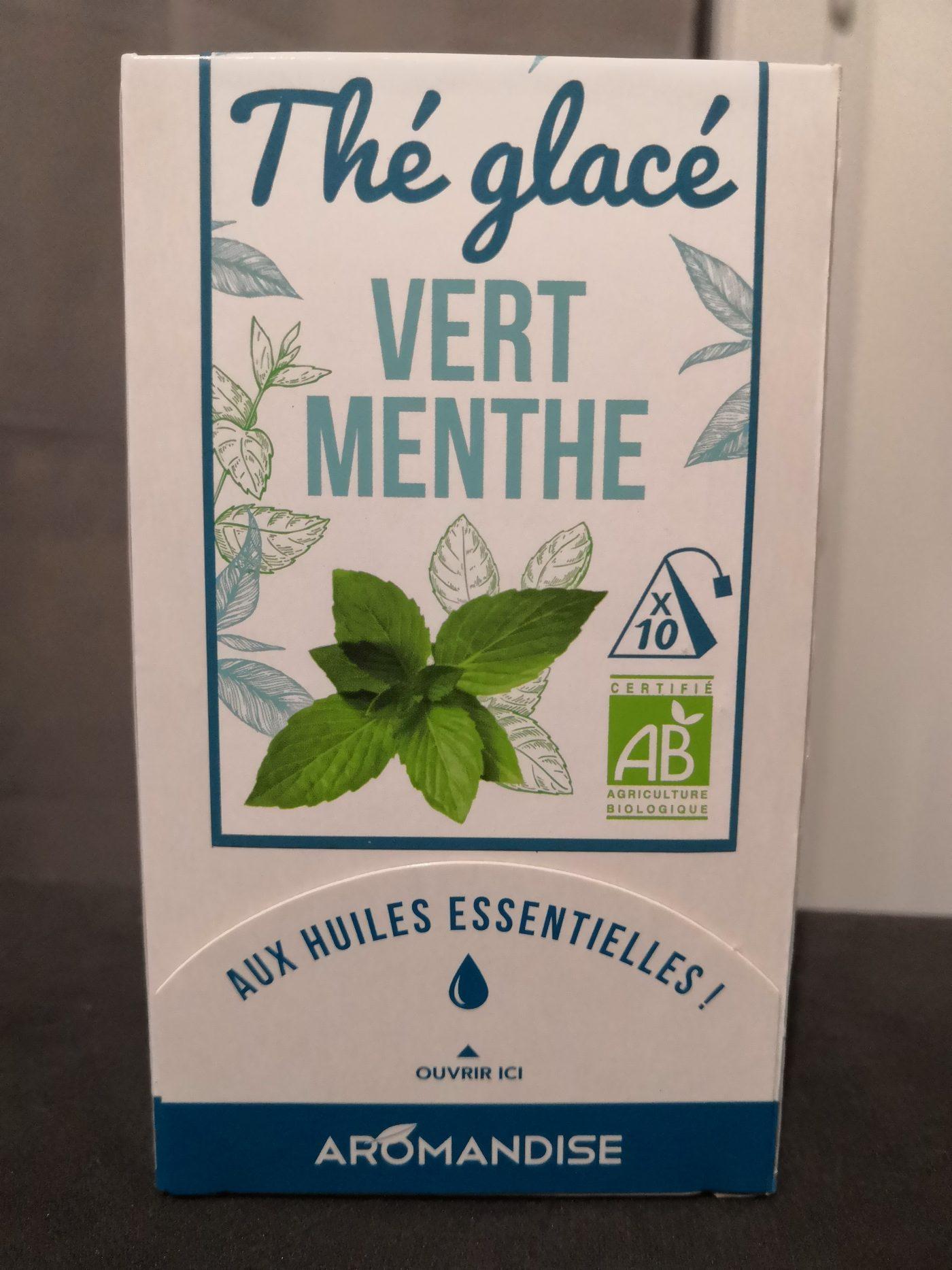 J'ai testé pour vous thé glacé vert menthe Aromandise