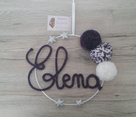 Plaque tricotin Elena