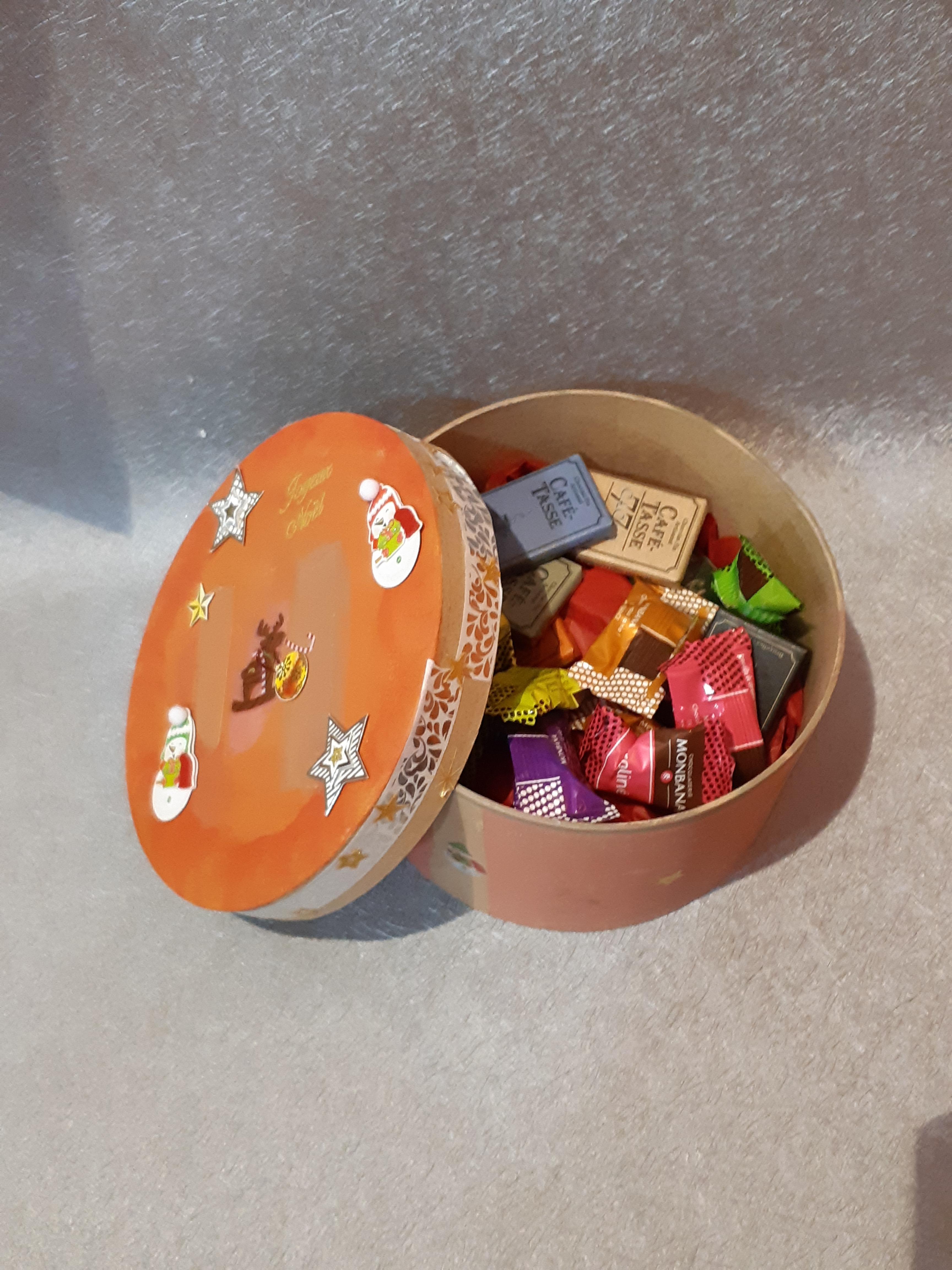 Idée cadeau à faire soi-même, la boîte à chocolats