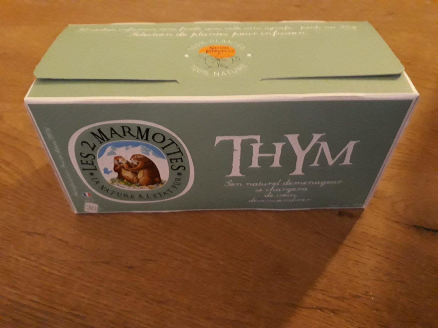 J'ai testé pour vous l' infusion thym Les 2 marmottes