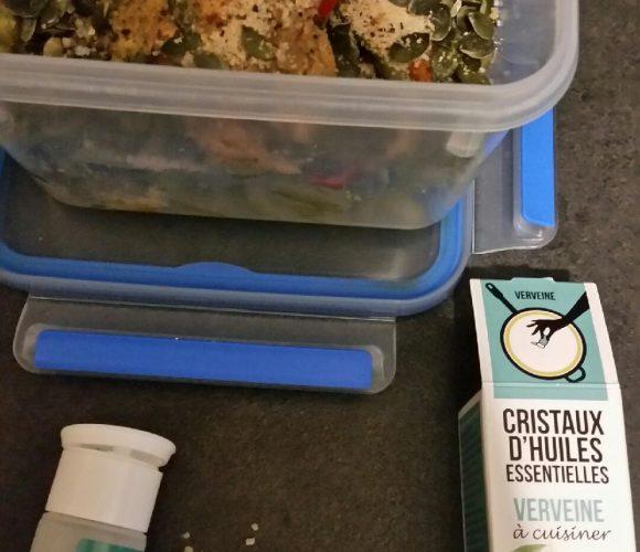 Mes cristaux d'huile essentielle de verveine, pour embellir mes plats
