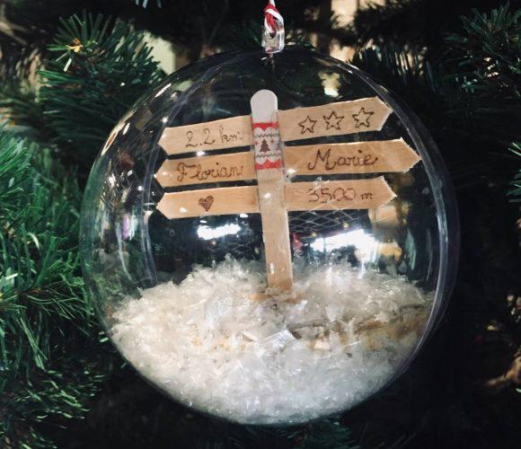 Ma boule de noël personnalisée ! Mini panneaux de famille !