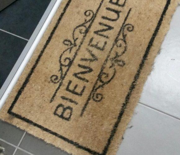 Mon tapis «bienvenue» chez moi !