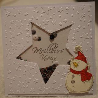 carte de Noel shaker étoile