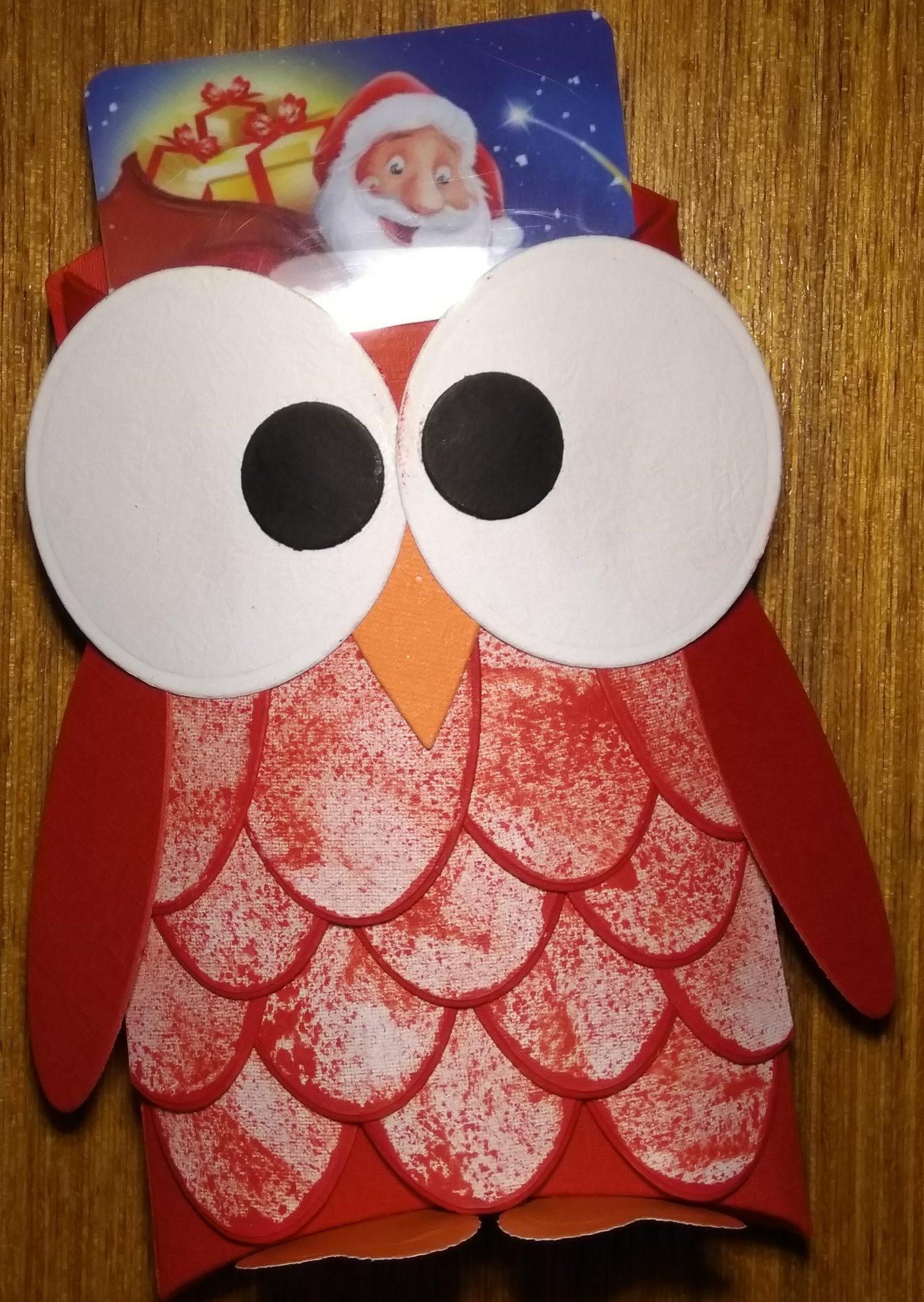 Boite Hibou - porte carte cadeau