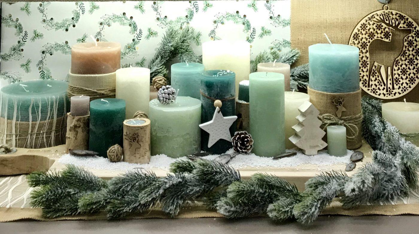 Idée de décoration de centre de table de Noël naturel