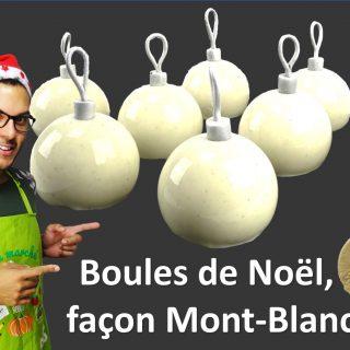 BOULES DE NOËL, FAÇON MONT-BLANC
