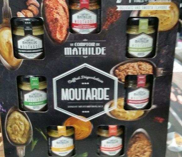 Le coffret découverte 7 saveurs moutarde pour mon papa (comptoir de mathilde)