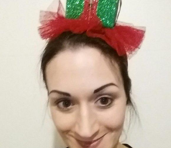 Mon serre tête cadeau de Noël (pour assortir mon pull moche)