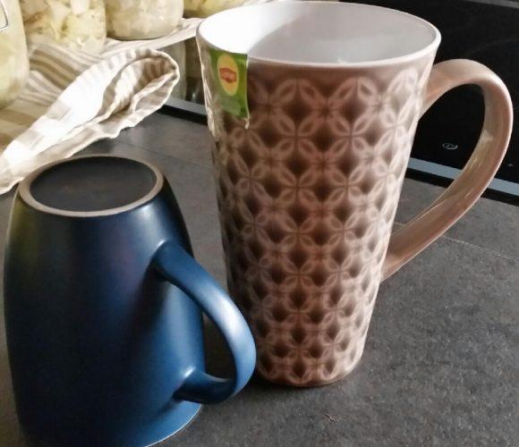 Mon mug XXL à motif gris pour mon chocolat chaud chaud