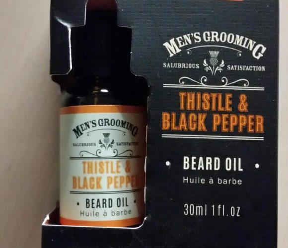 L'huile à barbe de mon homme !