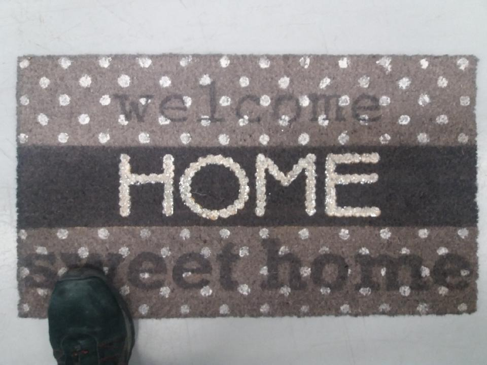 Mon tapis «welcome home»