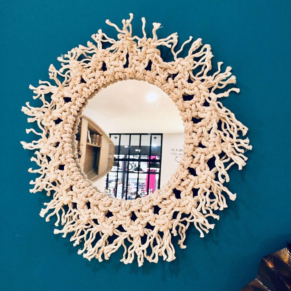 Mon miroir macramé !
