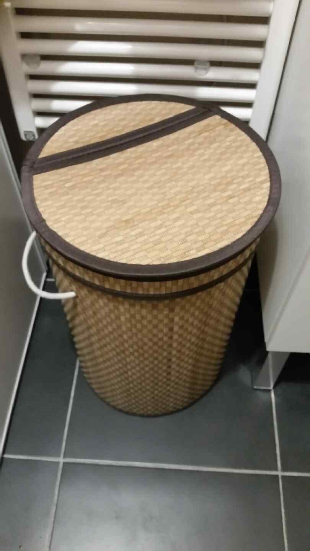 Mon grand panier à linge bambou
