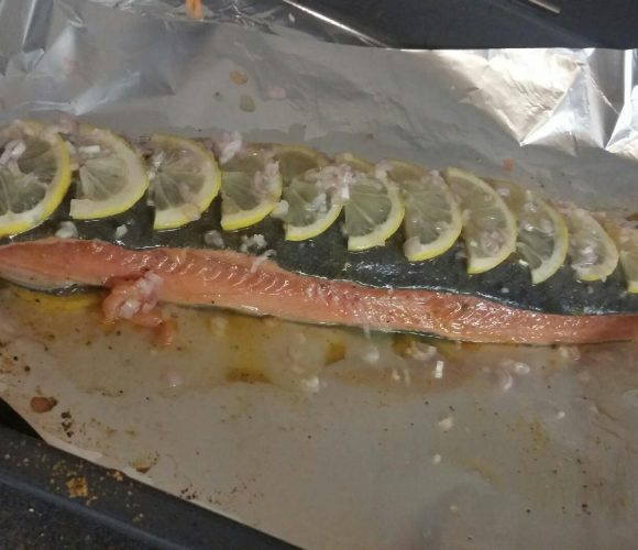 Ma recette de saumon avec la pâte de curry madras + citron