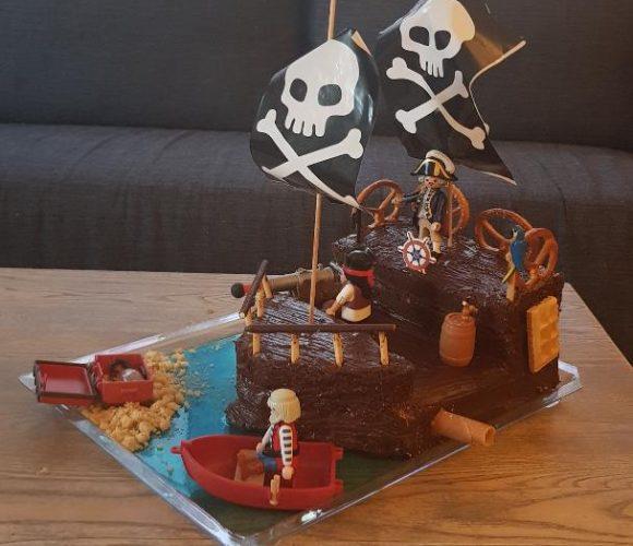 Premier Gateau Bateau pirate!