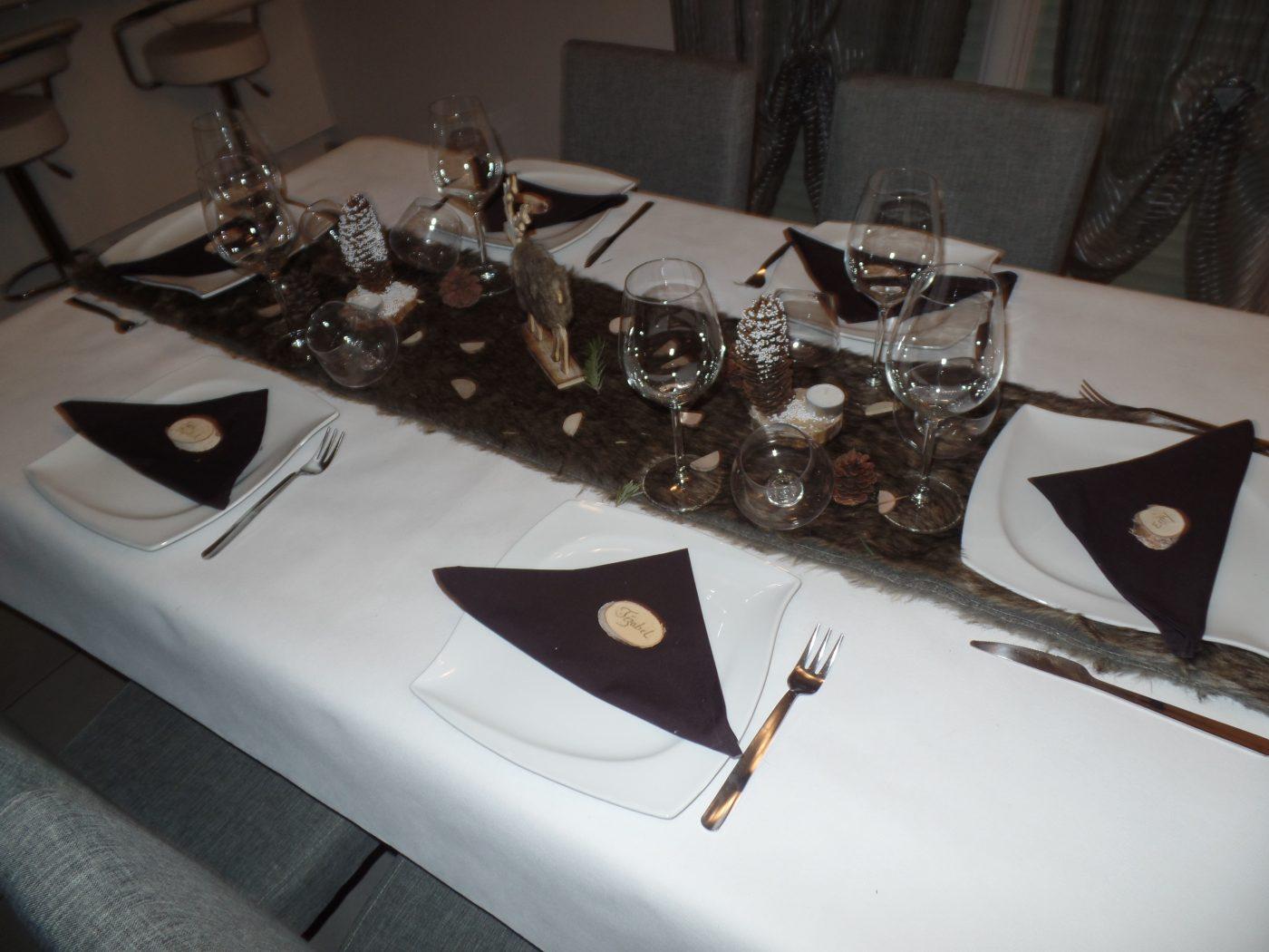 Décoration table jour de l'an