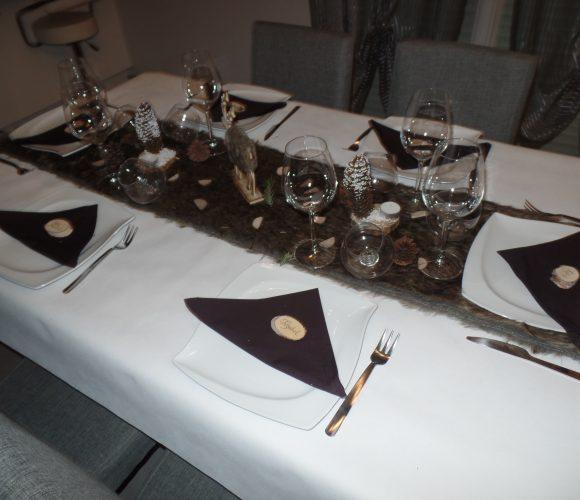 Décoration table jour de l'an «Thème montagne»