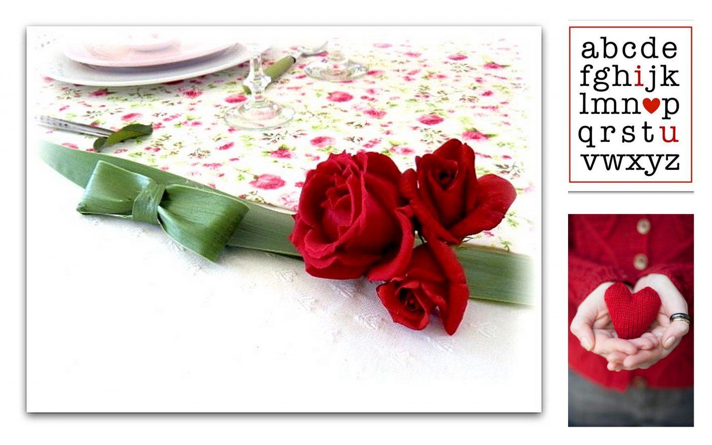 Pour votre table de St Valentin