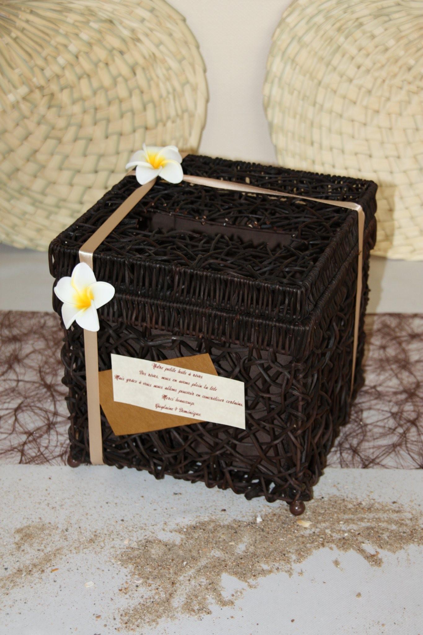 Création d 'une urne pour mariage avec une boite en osier !