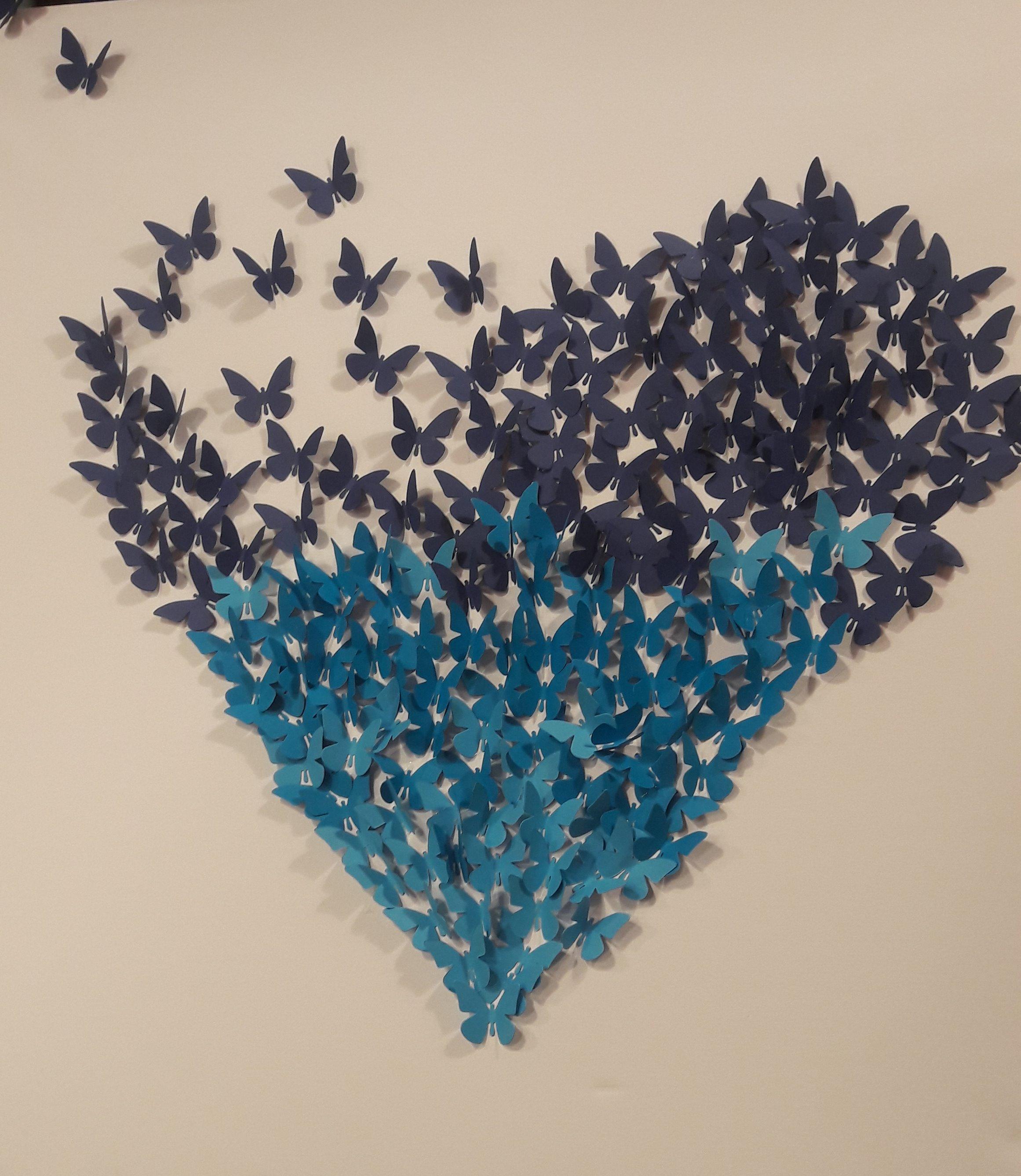 Mon tableau envolée de papillons !