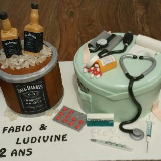 Cake design double theme