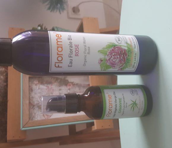 J'ai testé pour vous l'huile végétale de Chanvre et l'eau florale rose