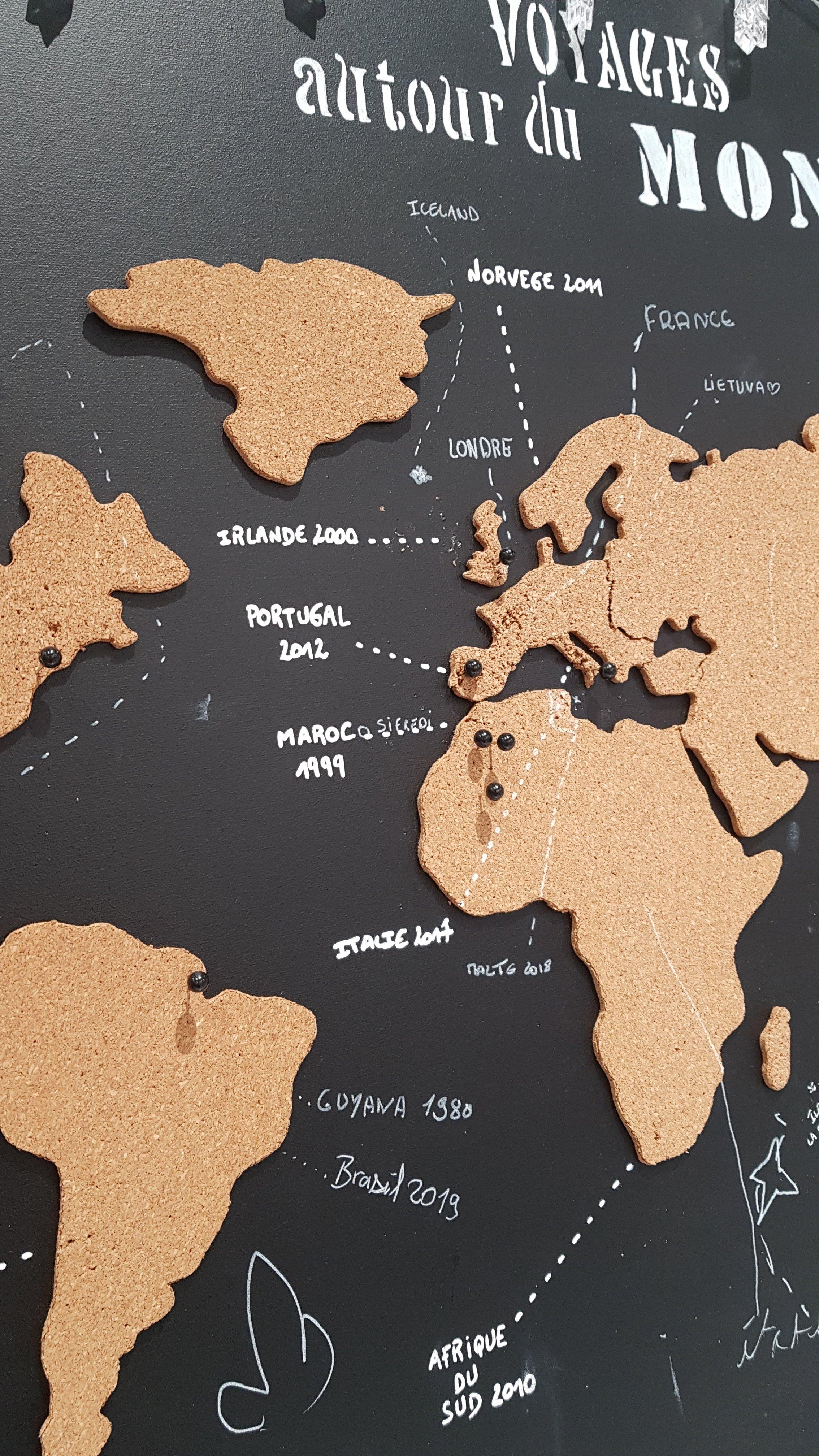 J'ai testé pour vous la carte du monde en liège