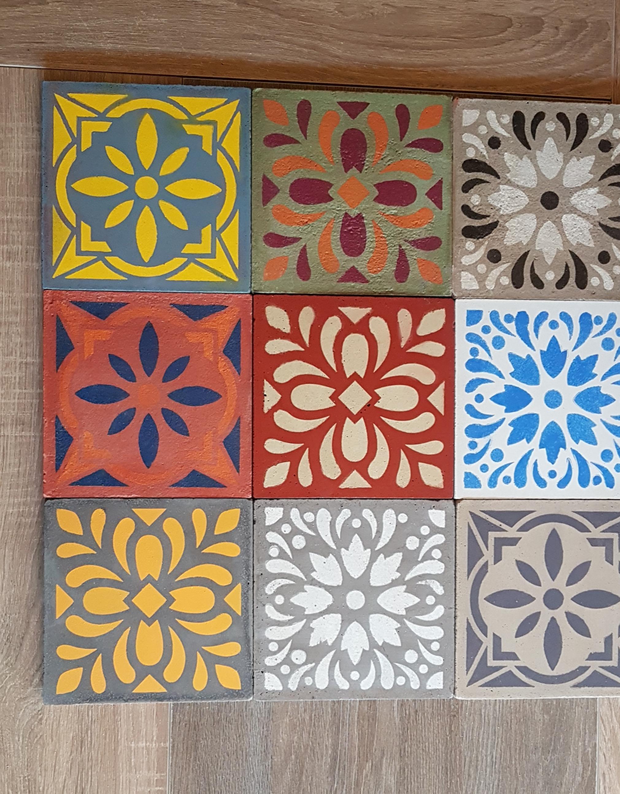 Faire Ses Pochoirs Soi Meme fabrication de carreaux de ciment (blog zôdio)