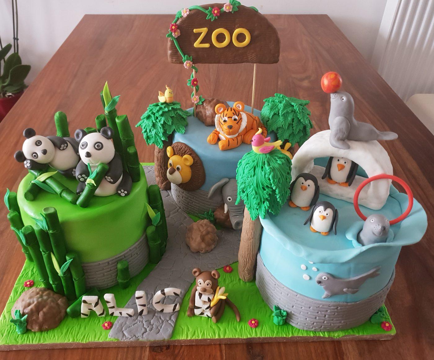 Zoo cake design