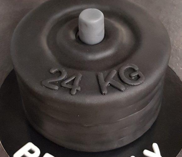 Gâteau haltères