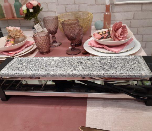 La plaque de pierre chaude/raclette