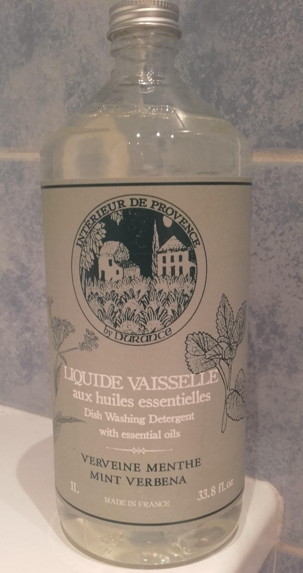 J'ai testé pour vous dURANCE  liquide vaisselle verveine menthe  300 ml