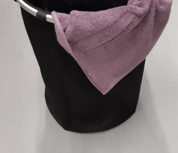 Mon panier à linge textile noir !