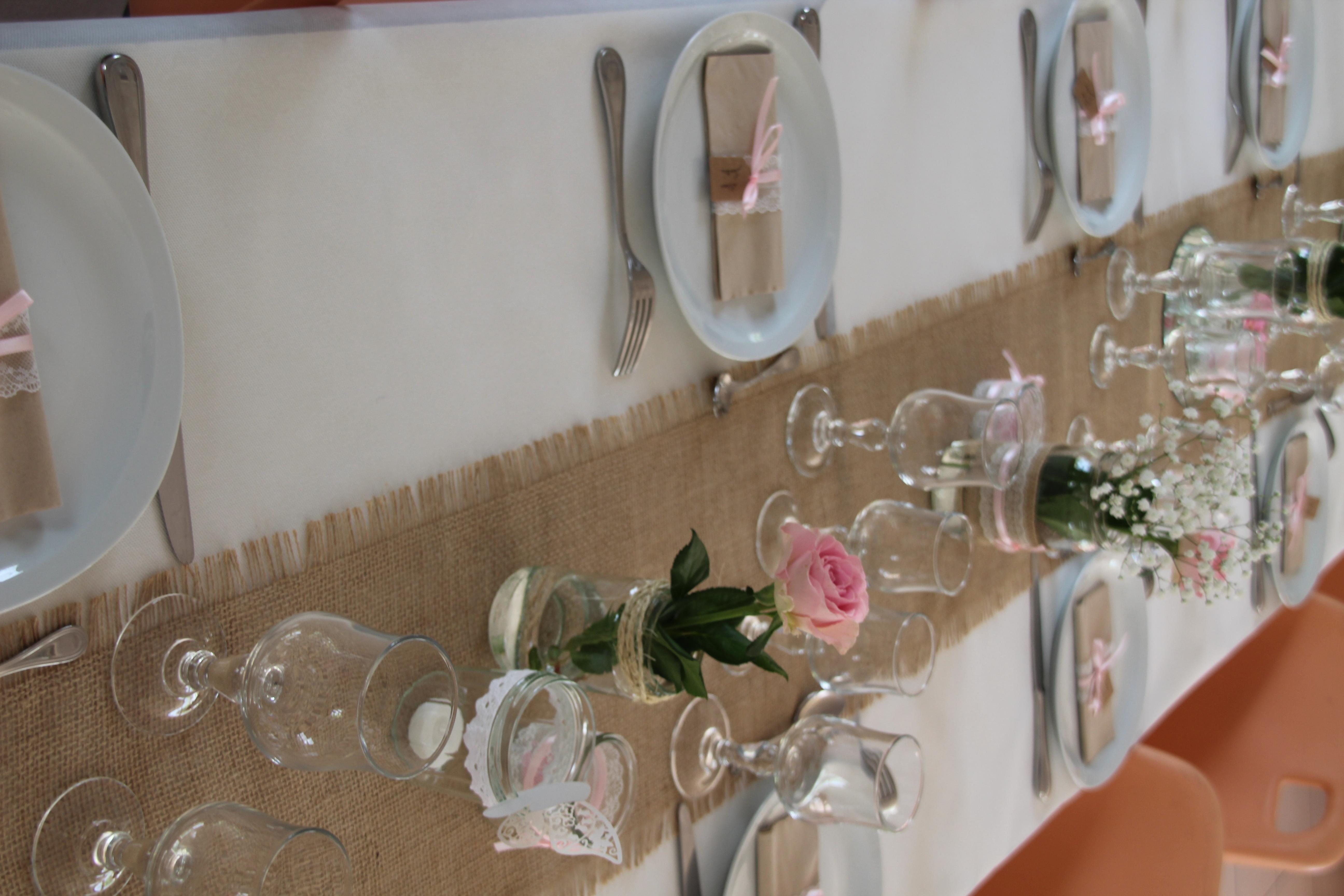 Table d'anniversaire «champêtre»