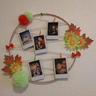 Idée déco, un porte-photos cercle!