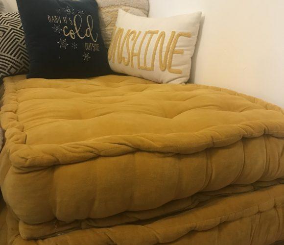 J'ai testé pour vous futon jaune