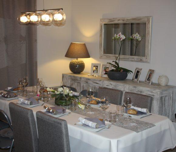 Table «soirée de Noël»